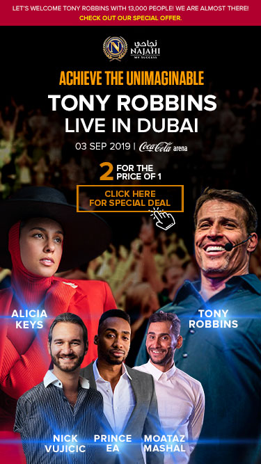 ACHIEVE THE UNIMAGINABLE with TONY ROBBINS DUBAI - Event Here